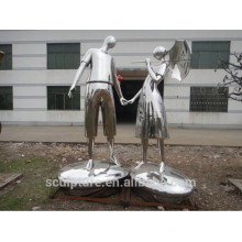 Polished Technique and Modern Theme metal sculpture