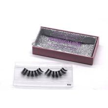 805T Hitomi Custom Eyelash Packaging Box Fashionable 3D Mink Eyelashes Clear Band Luxury Real Fluffy 3D Mink Eyelashes