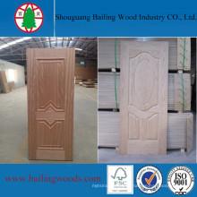 O folheado de madeira moldou a pele interior decorativa da porta de HDF