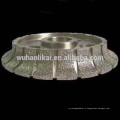 Medium Hardness Diamond Abrasive diamond Vacuum brazed bullnose grinding profile wheel