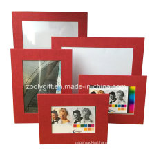 Assorted Color Red Textured Art Paper Promotional Gift Photo Frame
