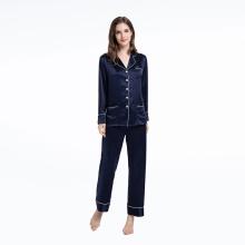 Роскошные шелковые пижамные комплекты женские брюки из двух частей