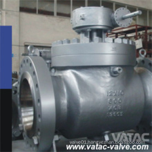 Top Entry Ball Valve A216 Wcb CS Trunnion Mounted Gear