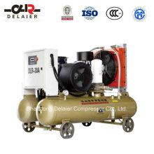 Compresor de tornillo portátil con ahorro de energía DLR Dlr-30aop