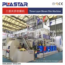 Machine de film soufflée de Co-extrusion de trois couches 1500mm