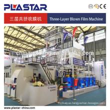 Three layers Co-extrusion Blown Film Machine 1500mm