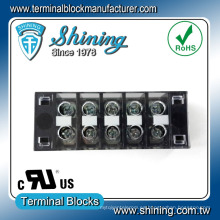 Tab Conexión rápida de plástico de baja tensión del bloque de terminales de barrera de cobre
