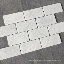 "3""*6"" Subway Tile Tumbled White Bianco Carrara Marble Tile"