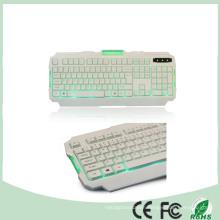 Ce RoHS Certificate 104 Keys Green LED Backlight Backlit Gaming Keyboard Multimedia (KB-1901EL-G)