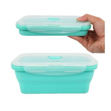 Voor studenten opvouwbare take-out lunchbox siliconen voedselcontainer