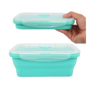 FDA Hittebestendigheid Hot Selling Silicone inklapbare lunchbox