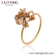 15478 xuping 18k gold plated funky design luxury style imitation crystal women ring