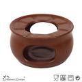 15oz Ceramic Pot Solid Brown Color Glaze