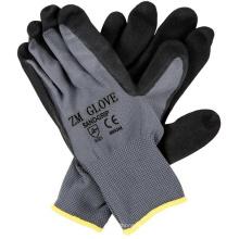 13 Gauge Polyester Liner schwarz Sandy Nitril beschichtet Handschuhe mit Palm getaucht