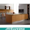 Armário de cozinha de madeira profissional do molde de coroa do projeto (AIS-264)