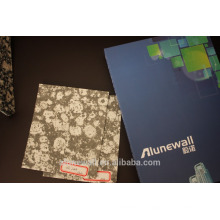 Marble Finish surface/ Stone look Aluminium Composite decorative wall Panel light weight ACP