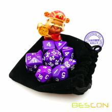 BESCON Set of 9 Polyhedral Dice Die D30 D24 D20 D12 D10 D8 D6 D4 Game Dice Set Dungeons and Dragons DND MTG RPG Dice Purple