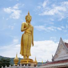 Bronze antigo 3 pés de altura tamanho tailandês estátua de Buda