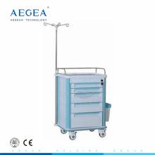 AG-IT004A1 Cinq tiroirs hôpital clinique économique infusion tiroir en plastique chariot en ventes