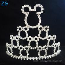 Corona linda del desfile del diamante del diseño corona de Mickey de la corona