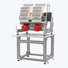 Elucky 2 heads industrial computer sewing embroidery machine for sale