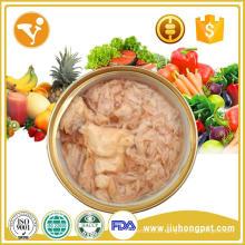 Comida quente e saborosa com alto teor de proteína e alimentos saudáveis para cães e gatos