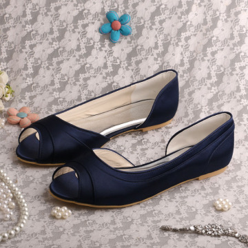 Wedopus Ballet Flat Wedding Shoes Navy