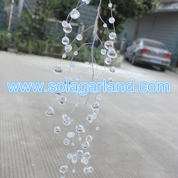 Frost Bead Garland Draht facettierten Diamanten Bead Zweig