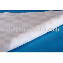 100% cotton dobby checker bed linen fabric