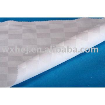 Tecido de linho 100% algodão do verificador do dobby do verificador