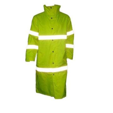 Светоотражающие длинное пальто безопасности с гриппом желтый
