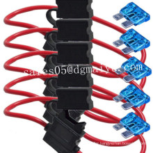 5 X 10 Gauge Atc Fuse Holder W/ Fuse in-Line AWG Wire Copper 12 Volt Blade