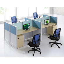 4 people brisk separated office partition with drawer