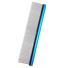Lightweight Aluminum Handle with Durable Stainless Teeth for Pet Hair Comb