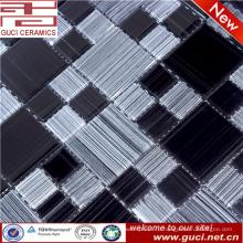 плитки плавательного бассеина смешанный черный и белый стеклянная мозаика плитка
