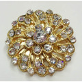 Forme ronde Strass Shoe Clips