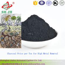 Charcoal Preis pro Tonne für High Metal Removal