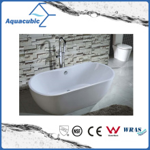 3 Sizes Bathroom Oval Solid Surface Freestanding Bathtub (AB6906-3)