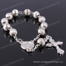 Schnelle Lieferung Hn15D110 Katholische Grau Kunststoff Rosenkranz Armband