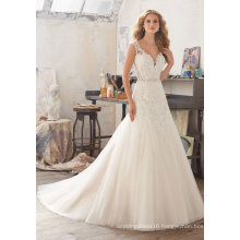 A Line Sheath Lace Beading Mermaid Bridal Wedding Gowns (8117)