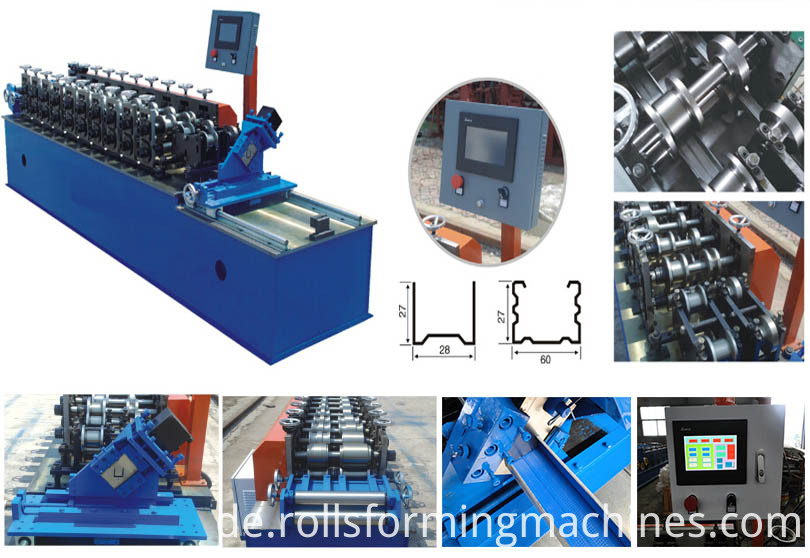Metal Studs Production Lines Drywall Profile Roll Forming Equipment