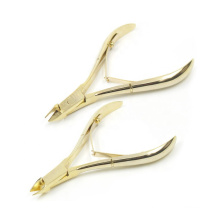 Professional Gold Plating Stainless Steel Cuticle Nipper 1/4 In Jaw Cuticle Nipper