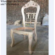 cadre de meuble sculpture bois Chaise Cadre en bois non fini structure en bois chaise à la française