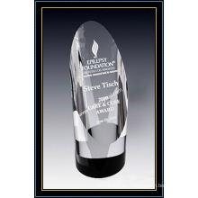 Crystal Award Trophy Cylinder Tower 6.5 pulgadas (NU-CW762)