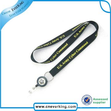 Plastic Retractable Pull Reel ID Name Card Badge Holder Lanyard