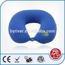 Classic U shape neck massage vibrating pillow with button