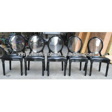 Modern black leather restaurant chair XY0221