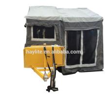 Remorque de camping-car galvanisée de haute qualité avec tente en toile