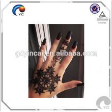 Henna floral design faux tatouage corps humain art temporaire tatouage autocollant