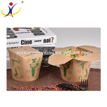 Customized Logo Biodegradable Pasta Noodle Box,Round Paper Box For Food Packing